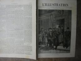 L'ILLUSTRATION 2349 SAN REMO MALADIE KRONPRINZ/ CHANTIER EIFFEL/ DECORATIONS FRANCAISES 3 Mars 1888 - Periódicos