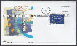 España Spain 4141 Año 2005 Constitución Europea, SPD FDC SOBRE PRIMER DIA - Sin Clasificación