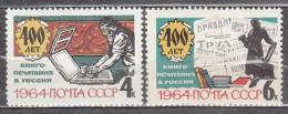 Russia USSR 1964 Mi# 2885-2886 Book-printing MNH * * - 1923-1991 USSR