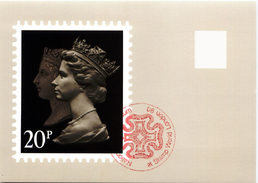 Machin Anniversary Double Head Penny Black - Stamps (pictures)