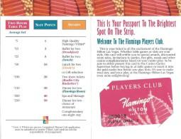Flamingo Hilton Casino Las Vegas, NV - Temporary Slot Card With Original Folder/Application Form - Casino Cards