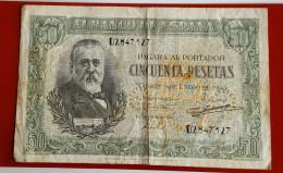 Banque D´ ESPAGNE Cincuenta Pésétas De 1940 Joli Voir Les 2 Photos - [ 3] 1936-1975 : Régence De Franco