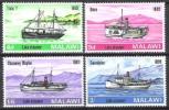 Malawi 1967 Transport Verkehr Schiffe Ships Dampfboote Raddampfer Seen Malawi-See Lake Nyasa, Mi. 64-7 ** - Malawi (1964-...)