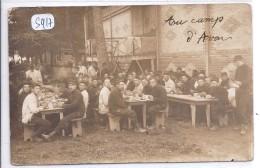 CARTE-PHOTO--C EST L HEURE DE LA SOUPE AU CAMP D AVON- OCTOBRE 1914 - Avon