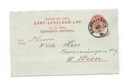 Ganzsache  Kartenbrief 8.3.1895 Echt Gelaufen Nach Wien - Enteros Postales