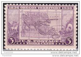 United States 1936, Oregon Territory Centennial, 3c, MNH - Vereinigte Staaten
