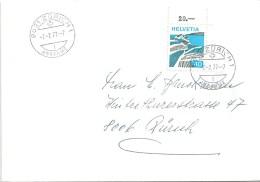 Brief  Zürich  (Schapsdatum 7.7.77-7)              1977 - Switzerland