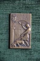 Médaille De Société Canine Du MIDI: Chasse à Courre, 2ème Prix Exposition, Graveur CONTAUX - Professionnels / De Société
