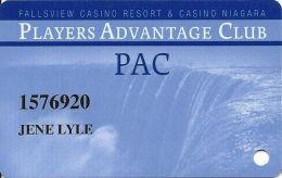 Fallsview Casino Resort & Casino Niagara - Niagara Falls, Canada - Slot Card - Signature Strip - Casino Cards