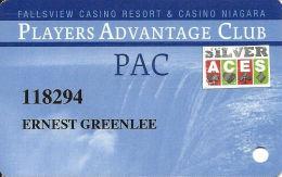 Fallsview Casino Resort & Casino Niagara - Niagara Falls, Canada - Slot Card - Silver Aces Sticker - Casino Cards
