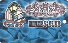 Easy Street & Famous Bonanza Casinos Central City, CO - Slot Card - 1 Phone#  (BLANK) - Casino Cards