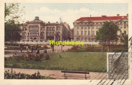 CPA  SERVIE SERBIA SERBE BELGRADE BELGRADO L'ANCIENNE ET LA NOUVELLE UNIVERSITE VUE DU JARDIN ACADEMIQUE - Serbie