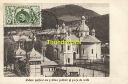 CPA ROMANIA ROMANIE  VEDERE PARTIALA CU GRADINA PUBLICA SI PIATA DE TENIS  SALUTARI DIN CAMPULUNG - Roumanie