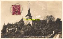 CPA CRESSIER CHATEAU JEANJAQUET CARTE DE PHOTO FOTOKARTE - NE Neuchâtel