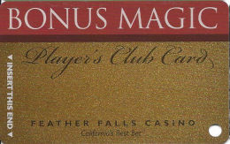 Feather Falls Casino - Oroville, CA - Slot Card  (BLANK) - Casino Cards