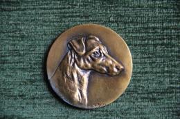 Médaille De  Tête De Chien, Graveur SOLEAU - France