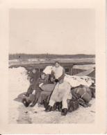 Foto Gruppe Deutsche Soldaten - Wintertarnung - 2. WK - 4*5,5cm (24027) - Krieg, Militär
