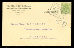 HANDGESCHREVEN BRIEFKAART Uit 1917 Van TEGELEN Naar VEENDAM * TREINSTEMPEL MAASTRICHT - VENLO  (10.473e) - Periodo 1891 – 1948 (Wilhelmina)