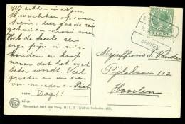HANDGESCHREVEN BRIEFKAART Uit 1930  TREINSTEMPEL 's-HERTOGENBOSCH - ARNHEM Naar HAARLEM  (10.473g) - Periode 1891-1948 (Wilhelmina)