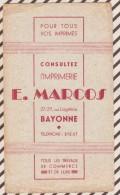 404 BUVARD E MARCOS IMPRIMERIE BAYONNE - Löschblätter, Heftumschläge