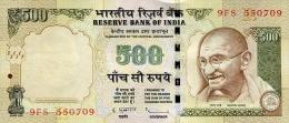 INDIA 500 RUPEES 2013 P-106 UNC SIGN. SUBBARAO [IN290c] - India