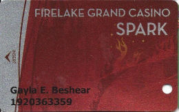 FireLake Grand Casino - Shawnee, OK - Slot Card - Last Line Of Text Starts ´responsible' - Casino Cards