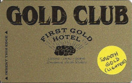 First Gold Hotel Casino - Deadwood, SD - Slot Card - Smooth Gold Surface  (BLANK) - Casino Cards