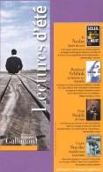 Marque-page °° Gallimard Lectures D'été - J. Nesbo Soleil De Nuit - Dép2v  7x21 - Marcapáginas