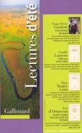 Marque-page °° Gallimard Lectures D'été - F.O.Giesbert L'arracheuse De Dents- Dép2v  7x21 - Marcapáginas