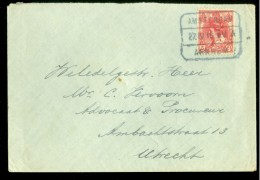 BRIEFOMSLAG Uit 1915  TREINSTEMPEL AMSTERDAM - ARNHEM Naar UTRECHT (10.473j) - Periode 1891-1948 (Wilhelmina)