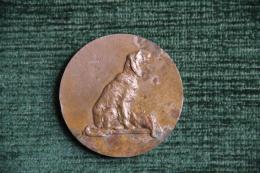Médaille De Chien De Chasse Avec Un Faisan - Professionnels / De Société