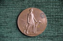 Médaille De Diane Chaseresse Et Un Chien De Chasse . Graveur : MORLON - Professionnels / De Société