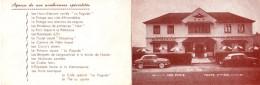 Dépliant Publicitaire Original - LA PAGODE - Restaurant Franco-Chinois - Saint-Symphorien - Tours - Citroën DS - Aronde - Publicités