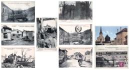 Lot De 9 Cartes CPA De SOUAIN - ( 51 ) Bataille De La Marne 1914 - Voir Les SCANS - Souain-Perthes-lès-Hurlus