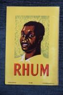 """ETIQUETTE """" RHUM """". - Rhum"""
