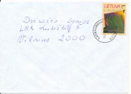 Liethuania Cover Lauksargiai 1-2-2001 Single Stamped - Litauen