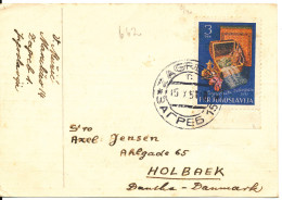 Yugoslavia Card Sent To Denmark 15-10-1951 Single Stamp Zagreb Messe - 1945-1992 Socialist Federal Republic Of Yugoslavia