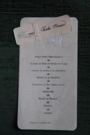 MENU De Mariage Du 15 Juillet 1904 - Menus