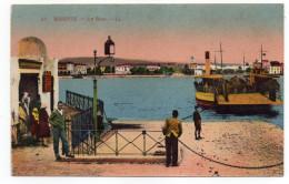 Tunisie--1937--BIZERTE--Le Bac  ( Animée ,bateau)--Beau Plan--n°21 éd  LL --Belle Carte Colorisée - Tunesië