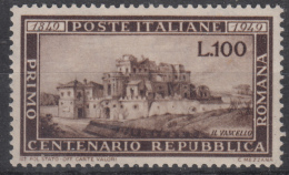 Italia - 1949 - Centenario Della Repubblica Romana ** - 6. 1946-.. Repubblica
