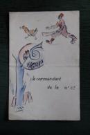 RARE - Menu D´un Repas Pris à CASABLANCA à BEN M´SIK Le 20 Aout 1940 Par Le Commandant De La 11 ème Compagnie De Zouaves - Menus