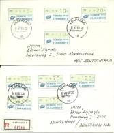 Turkey; 1987 Covers Bearing 1st Group Automaton Stamps (Complete Set) - 1921-... République