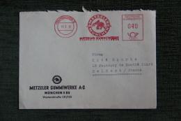 Enveloppe Publicitaire , MUNCHEN, METZELER GUMMIWERKE A-G - [7] République Fédérale