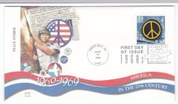 Sc#3188m Celebrate The Century 1960s, Peace Symbol, C1990s FDC Cover - 1991-2000