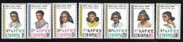 Ethiopia, Scott #832-8 MNH Set Hairstyles, 1977 - Ethiopie
