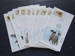 USA 1987 American Wildlife. 10 Illustrated FDC Cover. Birds - Postzegels