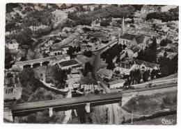 SAINT LOUP LAMAIRE--1953--Vue Aérienne-Le Pont Du Chemin De Fer-L'église Et Le Chateau--cachet Gare De Parthenay-79 - Saint Loup Lamaire
