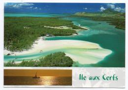 Ile MAURICE---Lot De 3 CPM  (vues Aériennes + Multivues )--beaux Timbres Au Verso - Maurice
