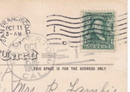 Denverton California DPO-3 Closed Post Office Solano County, Doane, Cancel Postmark On 1900s Vintage Postcard - Postal History