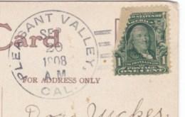 Pleasant Valley California DPO-3 Closed Post Office, El Dorado County Cancel Postmark On 1900s Vintage Postcard - Postal History